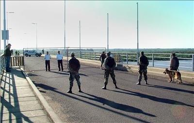 Puente San Martin Uruguay en el Puente San Martín