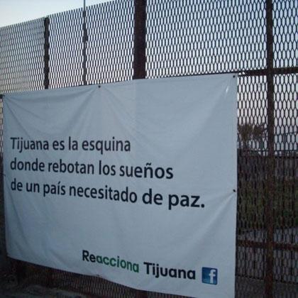 Carteles en la frontera entre México y Estados Unidos