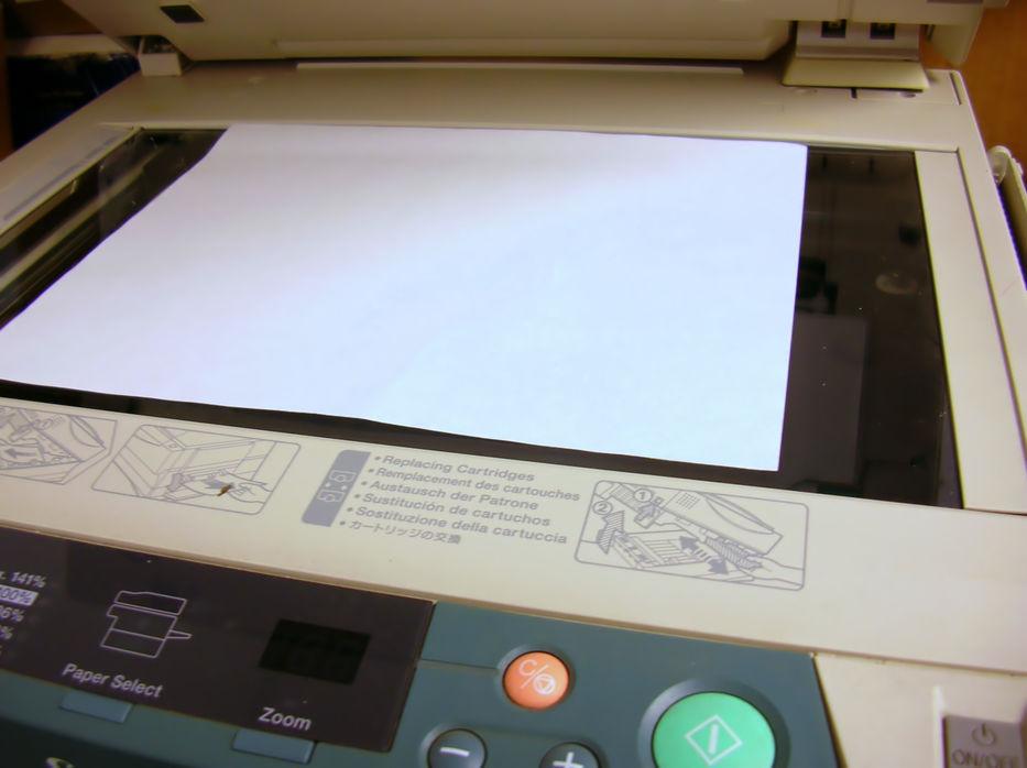 Para sacarle fotocopia