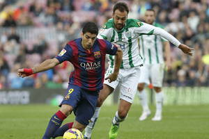 Suárez y su primer gol liguero