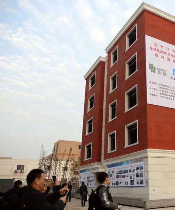 china construyen edificio con impresora 3d