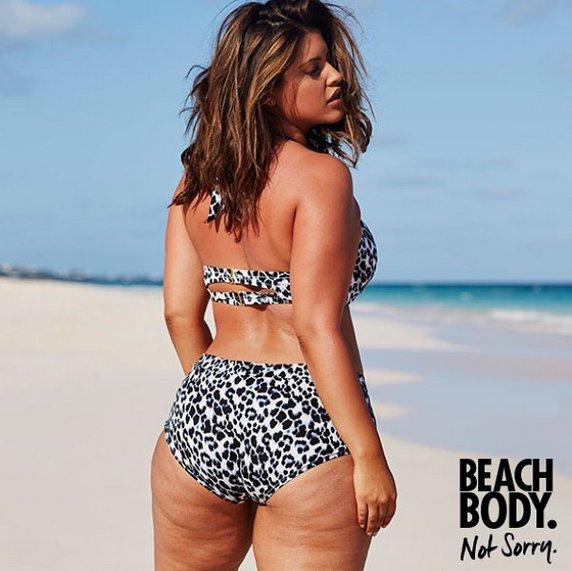 La marca Swimsuits For All lanzó una inspiradora campaña protagonizada por la modelo Denise Bidot, que posa sin Photoshop y orgullosa de su celulitis.