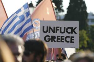 Los griegos se manifestaron antes del plebiscito