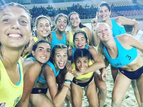 Selección uruguaya de beach handball campeona en Venezuela