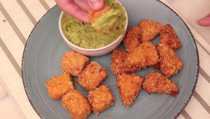 IDEAS AL PLATO: Bocaditos con queso y guacamole