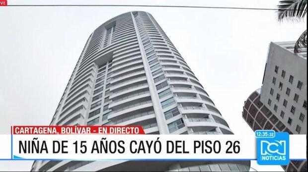 Menor sobrevivió al caer de un piso 26 en Cartagena