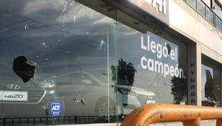 Estos fueron los destrozos en la rambla producidos durante los festejos de Peñarol