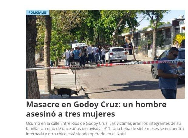 Conmueve cuádruple femicidio — Masacre en Mendoza
