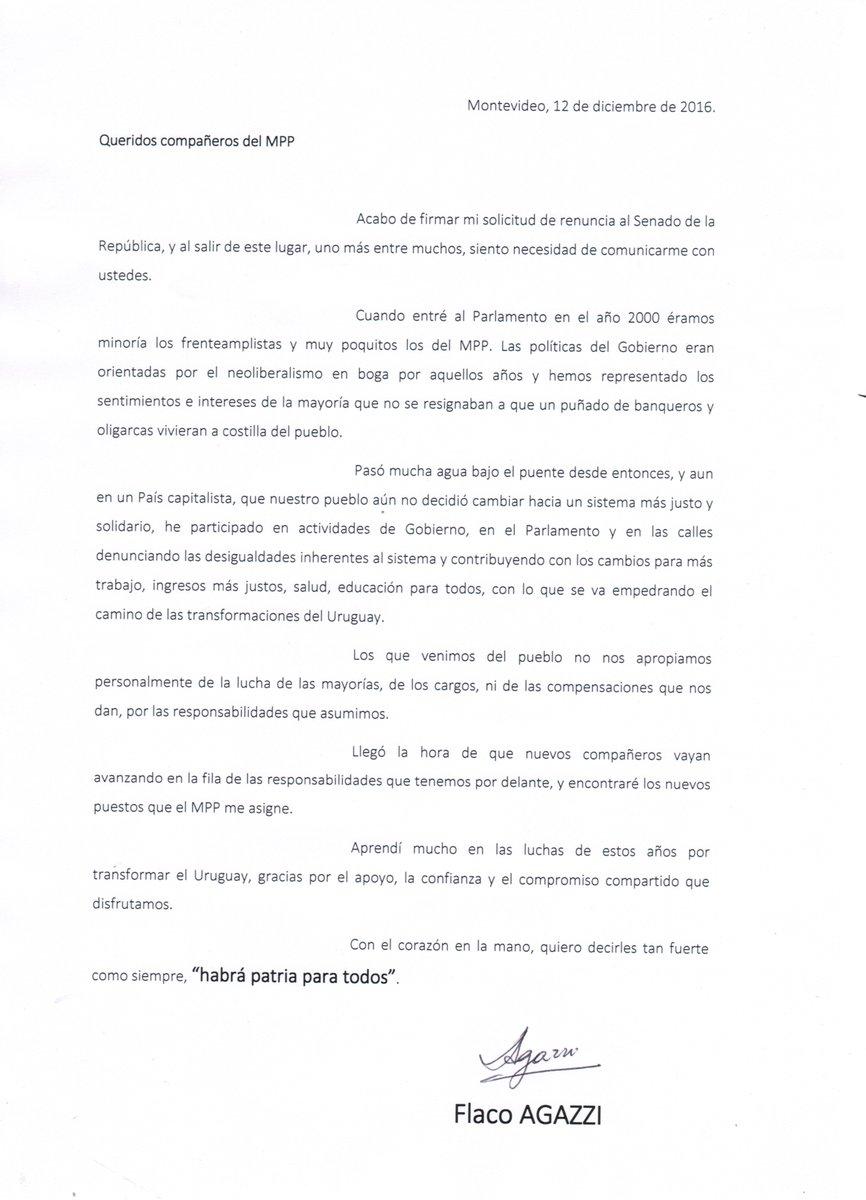 Agazzi anunció la renuncia a su banca en el Senado Pasos al costado ...