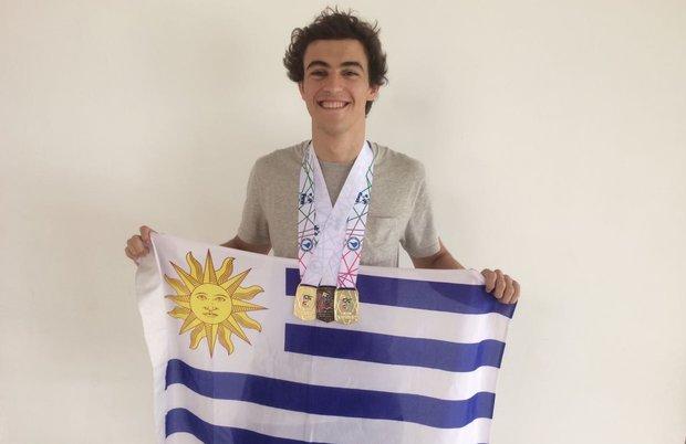 Santiago Saint-Upery y sus tres medallas continentales.