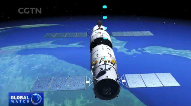 China logra por primera vez repostar con combustible su laboratorio espacial