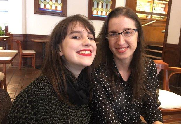 María Galant y Cristiane Oliveira