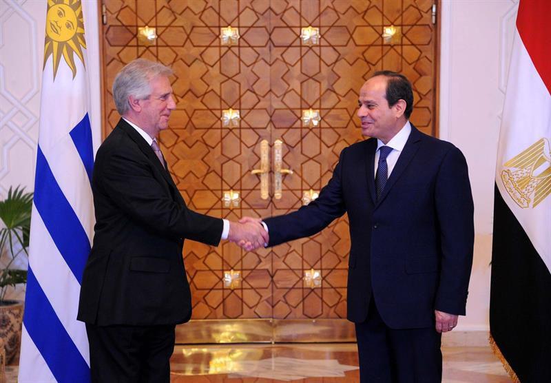 Arriba a Egipto presidente uruguayo