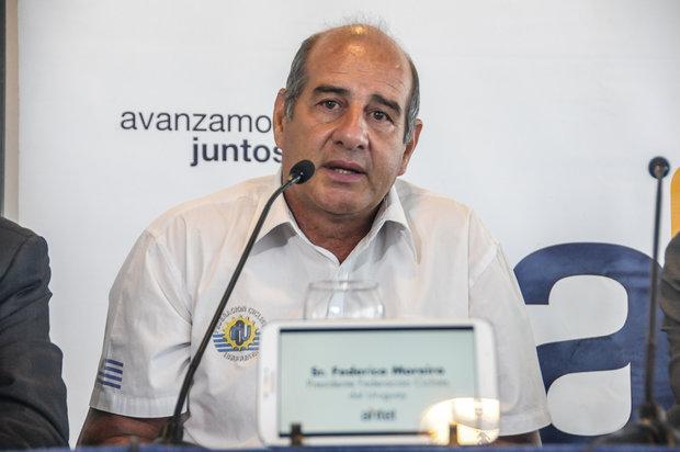 Federico Moreira y el futuro del ciclismo. Foto: Prensa FCU