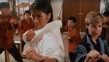 Las chicas hacen kung fu