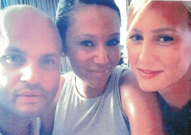 Stephen Belafonte, Mel B y Lorraine Gilles