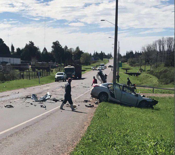 Son entrerrianos los 3 fallecidos en una ruta uruguaya