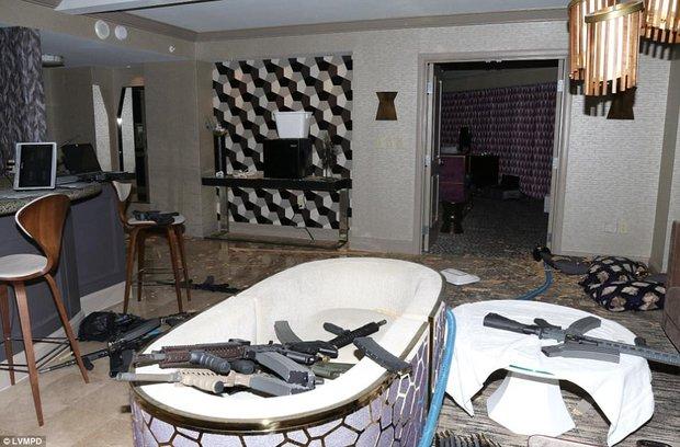 La habitación desde la que Paddock disparó contra la multitud