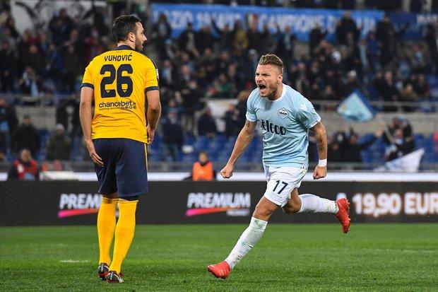 Immobile celebra su gol. Foto: EFE l Alessandro di Meo
