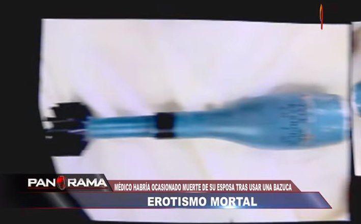 Peruano borracho mató a su esposa en práctica sexual con un mortero