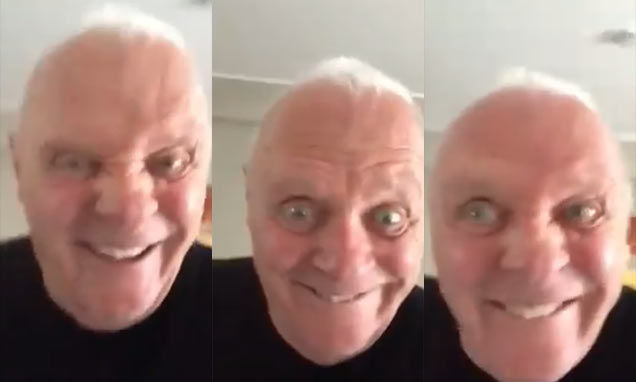 Anthony Hopkins estalló Twitter con un video haciendo muecas