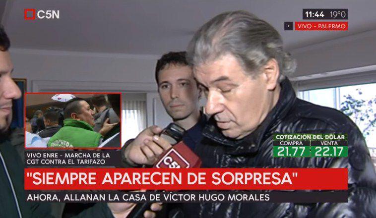 Allanan la casa de Víctor Hugo Morales — Ahora