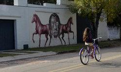 Contenido de la imagen Los murales de Villa Santo Domingo de Soriano