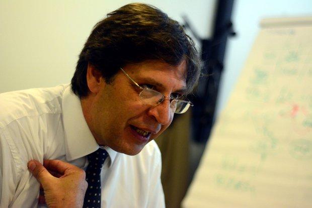 El presidente del Frente Amplio, Javier Miranda. Foto: Juan Manuel López I Montevideo Portal