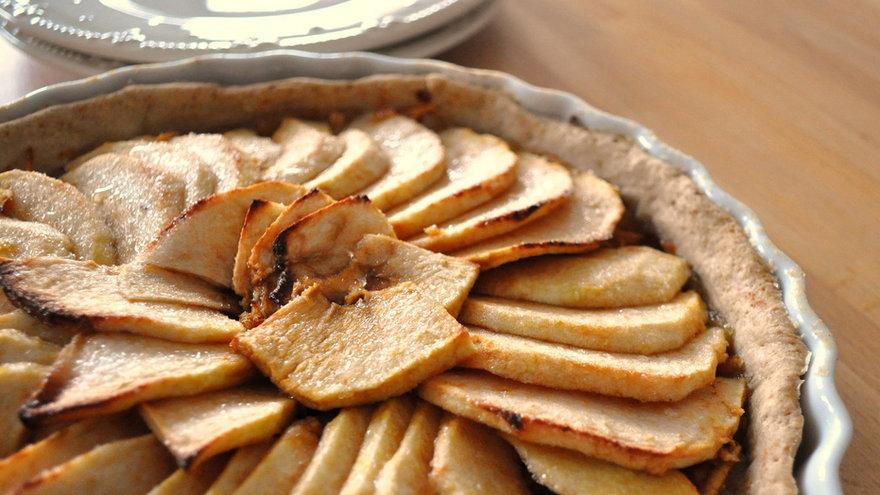 Tarta de jamón, queso y manzana . Gastronomia.com.uy