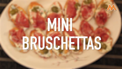 IDEAS AL PLATO: Mini bruschetas