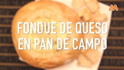 IDEAS AL PLATO: Fondue de queso en pan de campo