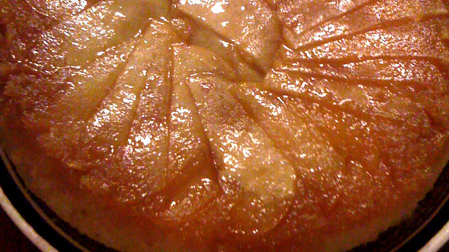 Torta invertida de manzana . Gastronomia.com.uy