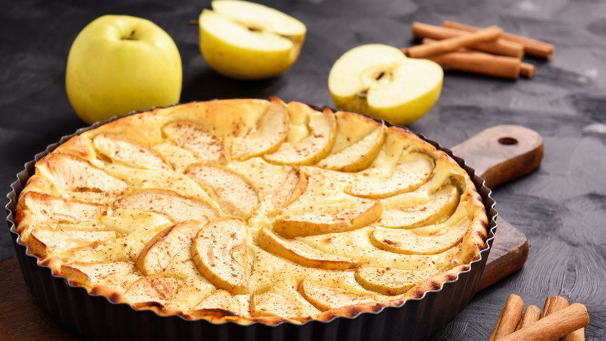 Tarta de ricota y manzana . Gastronomia.com.uy