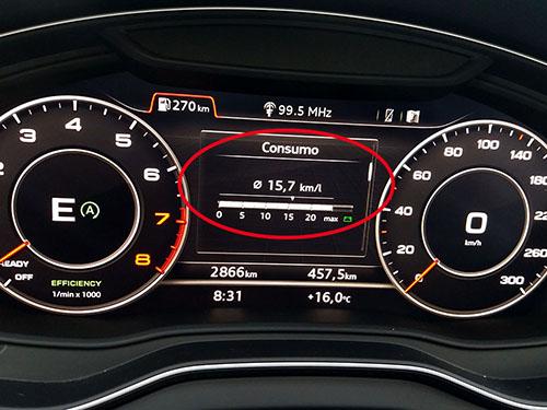 Consumo instantáneo Nuevo Audi Q5