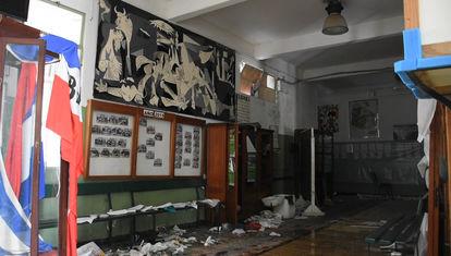 Las clases luego del tornado en Dolores
