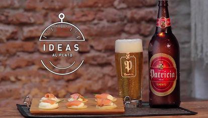 Blinis de Salmón a la cerveza rubia