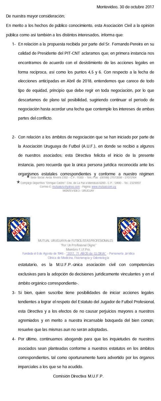 """La AUF reconoció a MUQN """"como colectivo legitimado"""" y a la Mutual no ..."""