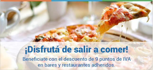 imagen del contenido Con Visa Montevideo COMM beneficiate con el descuento de 9 puntos de IVA en bares y restaurantes