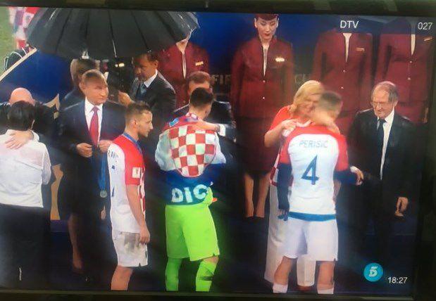 Presidenta de Croacia regala a Putin camiseta de su selección