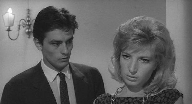 """Alain Delon con Monica Vitti en """"El eclipse"""" (1962). Foto: Wikipedia"""