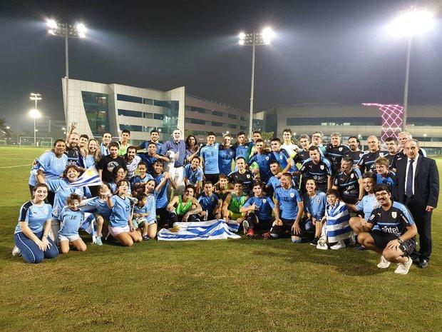 La selección uruguaya sub 20 festejó el título. Foto: Prensa AUF.