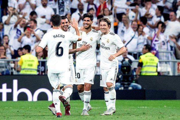Marco Asensio festeja su gol para Real Madrid. Foto: EFE l Rodrigo Jimenez