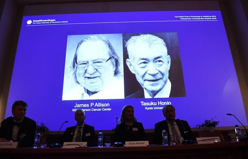 Los creadores de la inmunoterapia del cáncer ganan el Nobel de Medicina