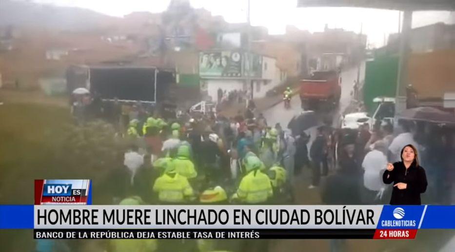 Linchan a hombre en Bogotá por cadena falsa de Whatsapp