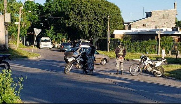 Operativo realizado en el barrio Lavalleja. Foto: Ministerio del Interior