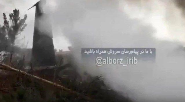Primeras imágenes del interior del avión de carga estrellado cerca de Teherán