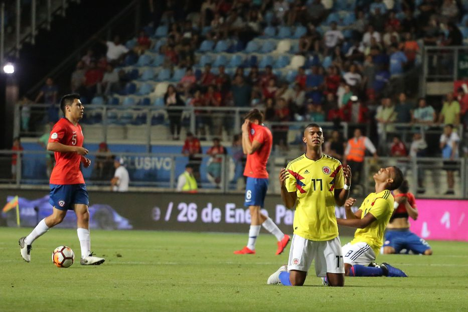 Image result for colombia 1 chile 0 sub 20