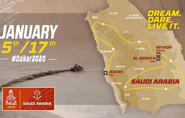 Trazado Dakar 2020