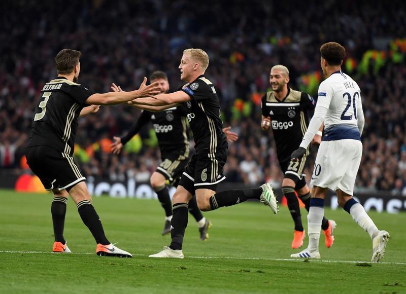 Resultado de imagen para Ajax se impuso 1-0 al Tottenham