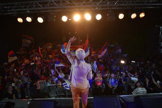 Graciela Villar acto en Florida Foto: FocoUy.jpg
